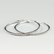 FULL TILT Rhinestone Hoop Earrings