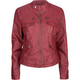FULL TILT Mock Neck Faux Leather Womens Jacket