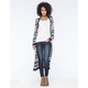 FULL TILT Striped Womens Maxi Cardigan