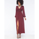 FIRE Button Front Maxi Dress