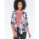 DEREK HEART Plaid Womens Wrap