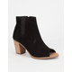 TOMS Majorca Womens Peep Toe Booties