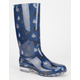 TOMS Raindrop Print Womens Cabrilla Rain Boots