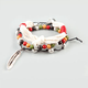 FULL TILT 3 Piece Rope/Bead/Leaf Charm Bracelets