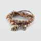FULL TILT 5 Piece Beaded Elephant Charm Bracelets