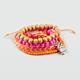 FULL TILT 5 Piece Braid/Bead/Owl Charm Bracelets