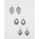 FULL TILT Filigree Teardrop/Leaf Earrings