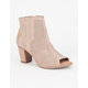 TOMS Suede Perforated Majorca Womens Booties