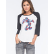 NEFF Disney Collection Mickey Perennial Womens Raglan Tee