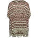 VANILLA STAR Ethnic Knit Girls Poncho