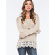 BLU PEPPER Lace Trimmed Womens Sweater