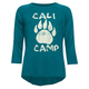 FULL TILT Paw Cali Camp Girls Raglan Tee