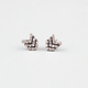 FULL TILT Rhinestone Chevron Stud Earrings