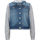 HIGHWAY Fleece Sleeve Girls Denim Jacket