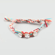FULL TILT 3 Stone Woven Friendship Bracelet