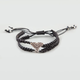 FULL TILT Rhinestone Chevron Double Braid Bracelet