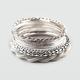 FULL TILT 9 Piece Metal Bangle Bracelets