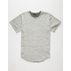 ELWOOD Marled Terry Curved Hem Mens T-Shirt