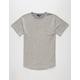ELWOOD Reverse Terry Curved Hem Mens T-Shirt