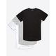ELWOOD 3 Pack Curved Hem Mens Tall Tee
