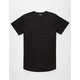 ELWOOD Curved Hem Black Mens Tall Tee