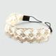 FULL TILT Scalloped Flower Lace Stretch Headband