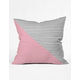 DENY DESIGNS Pink N Stripes Pillow