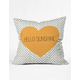 DENY DESIGNS Hello Sunshine Heart Pillow