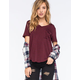 FULL TILT Striped V-Neck Womens Pocket Tee