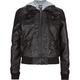 FULL TILT Hooded Faux Leather Girls Jacket