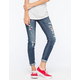 MISS ME Ripped & Cuffed Womens Skinny Jeans