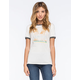 CORNER SHOP LA Palm Tree Womens Ringer Tee