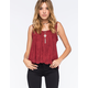 GYPSIES & MOONDUST Eyelet Womens Suede Tank