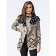 FULL TILT Diamond Native Womens Waterfall Cardigan