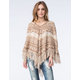 FULL TILT Womens Hooded Fringe Poncho