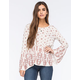 DEE ELLE Boho Printed Womens Top