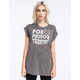 FOX Scripted Womens Rolled Cuff Tee