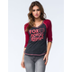 FOX Scripted Womens Raglan Tee