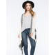 WOVEN HEART Border Fringe Womens Cardigan