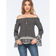 LOTTIE & HOLLY Off The Shoulder Womens Peasant Top