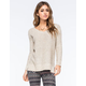 FULL TILT Essential Womens Marled Step Hem Sweater