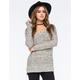 FULL TILT Essential Womens Marled Step Hem Sweater