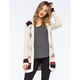 FULL TILT Hooded Geo-Pattern Womens Cardigan