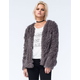 FULL TILT Womens Shag Fur Jacket