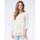 EYESHADOW Womens French Terry Sweater