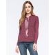 FULL TILT Striped Ribbed Womens Hoodie