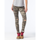 VANILLA STAR PREMIUM Womens Camo Destructed Skinny Jeans