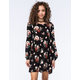 CHLOE & KATIE Floral Babydoll Dress