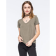 FULL TILT Longer Womens V-Neck Tee