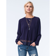 FIRE Womens Pintuck Lace Top